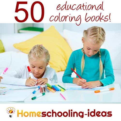 50 Kids Educational Coloring Books - Homeschooling Ideas Blog